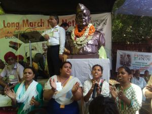 Hunger strike by Long march 4 Netaji