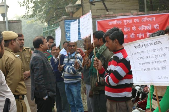 Submitting Memorandum to District Magistrate, North West Delhi